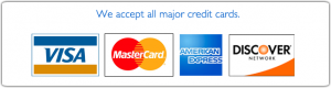 Limo taxi car all major credit cards